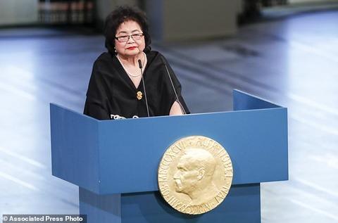 「核兵器と人類は共存できない」サーロー節子さんの魂の演説に寄せて