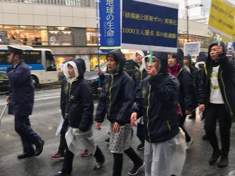 「地球の生命プロジェクト」決起集会~!パトカー先導で国会議事堂までデモ行進!!