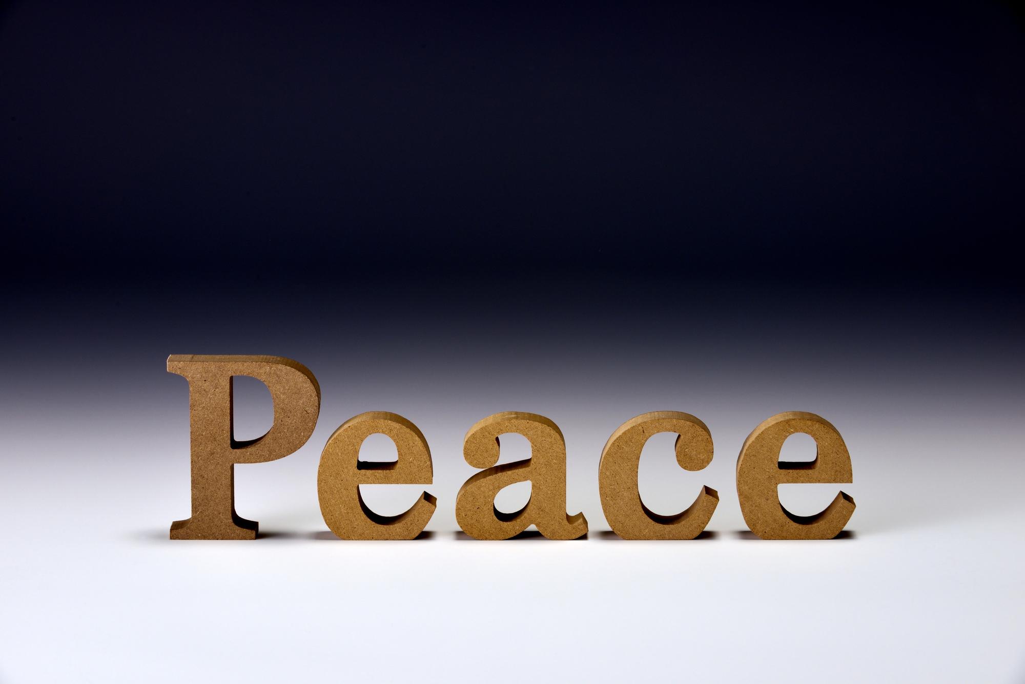 「Peace」・・「幸せ」って何だろう。本当はもっと幸せにくらせるのでないか?