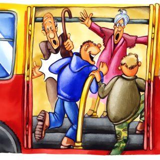 電車・バス等は人とのトラブルに巻き込まれそうで怖いと思う人へ。